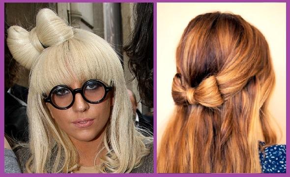 Peinados faciles lazos con tu propio pelo
