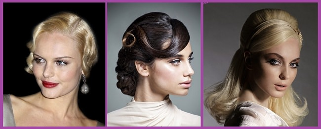 Peinados para fiesta semirecogido años 60