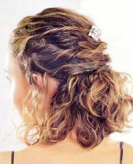 Semirecogidos Pelo Rizado Media Melena Peinados De 10