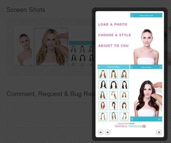 Aplicacion de peinados Women Hairstyles