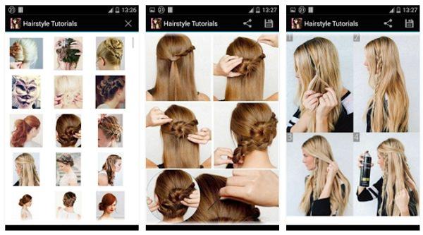 Apps de peinados Peinados paso a paso