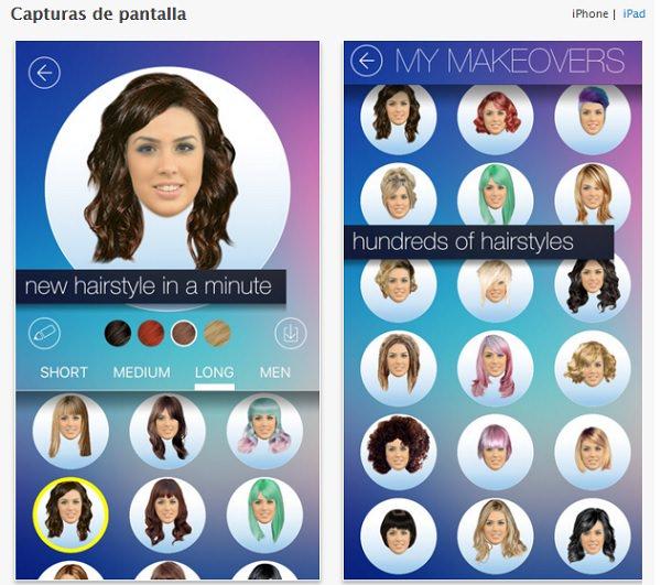 mejores aplicaciones de Diseñador de Peinados gratis