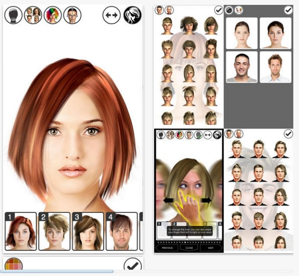 apps de peinados Hairstyle Magic Mirror