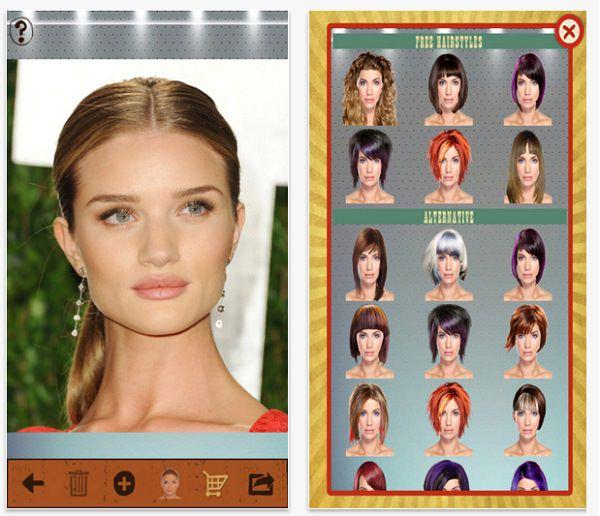 Aplicacion para cambiar mi corte de pelo