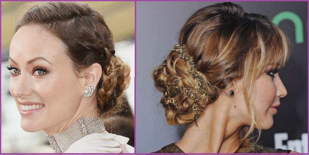 Peinado con moño trenzado- Ideas de Peinados para Nochevieja y Año Nuevo