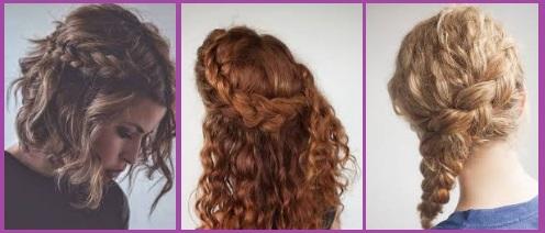 peinados trenzas cabello rizado san valentin