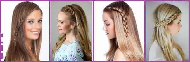 peinados trenzas cabello suelto largo liso - Peinados Lisos