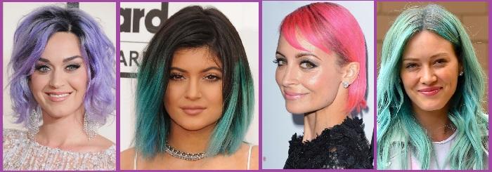 Peinado colores tintes famosas