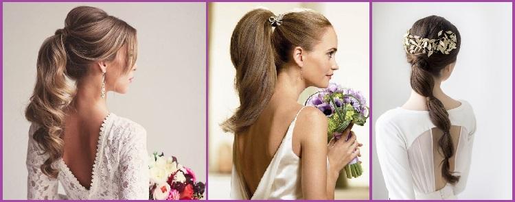 Peinado de novia coleta