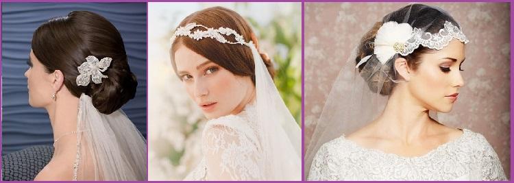 Peinado de novia moño bajo velo