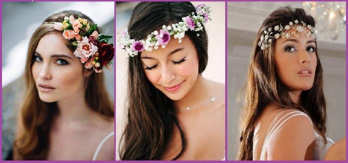Peinados bodas madrina corona flores