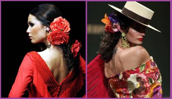 coleta baja peinados flamenca