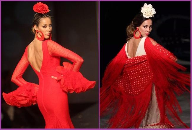 moño bajo peinado flamenca