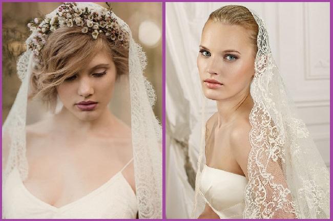 7 peinados para novias con velo ideas tendencias y fotos - Peinados de semirecogido ...