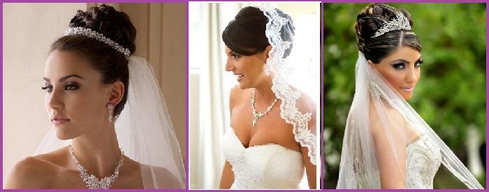 7 peinados para novias con velo ideas tendencias y fotos for Monos novia
