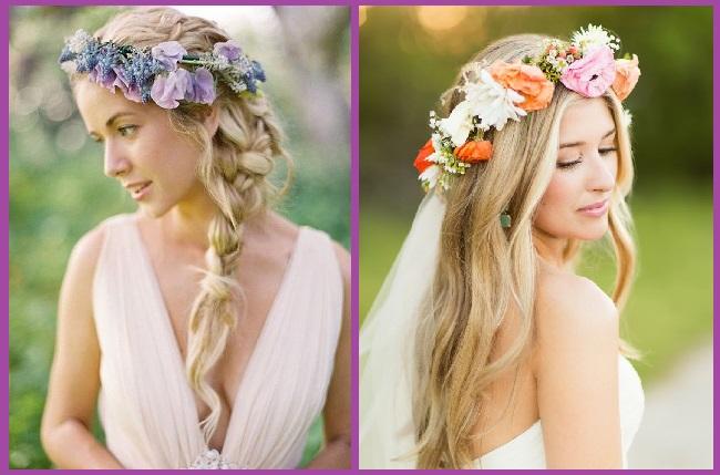 Corona de flores para Peinados de novia