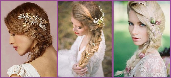 9 Peinados Con Tocados Para Novia Que Te Enamoraran Peinados De 10 - Tocados-para-semirecogidos