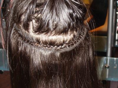 peinados con extensiones cosidas