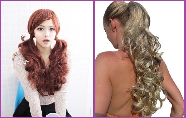 peinados con extensiones de coleta