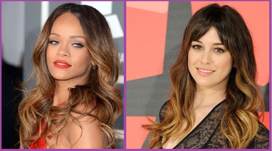 Peinados con Mechas californianas- Rihanna y Blanca Suárez