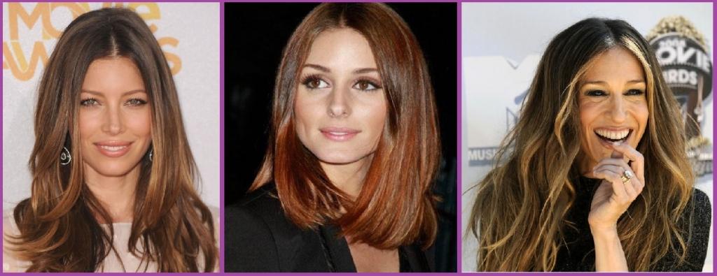 Peinados con Mechas Mechas Balayage-Jessica Biel, Olivia Palermo y Sarah Jessica Parker