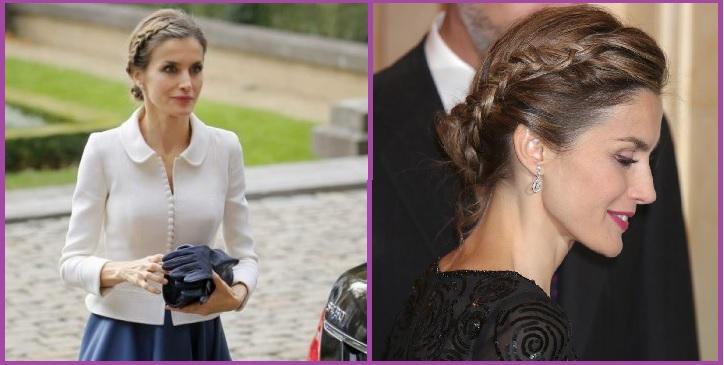 Trenza lateral con moño Reina España Peinadosde10