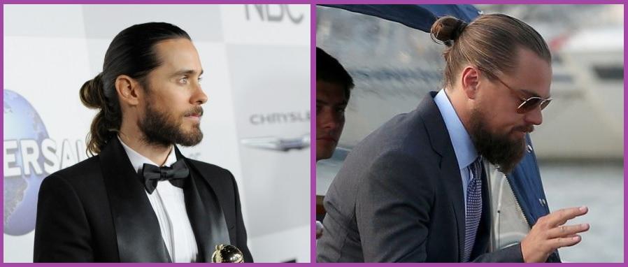 Moño- Peinados para hombres con cabello largo