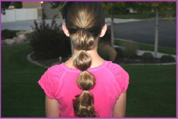 Coleta de burbuja- 15 peinados sencillos para la vuelta al cole