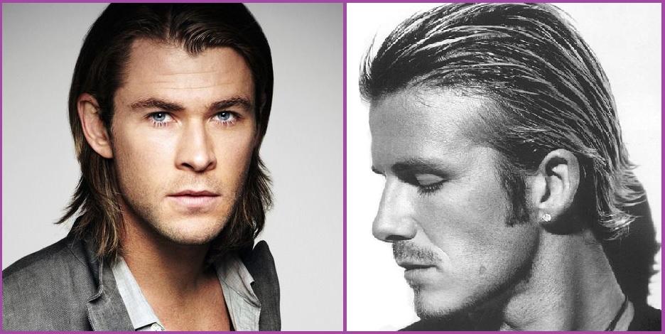 Efecto mojado- Peinados para hombres con pelo largo