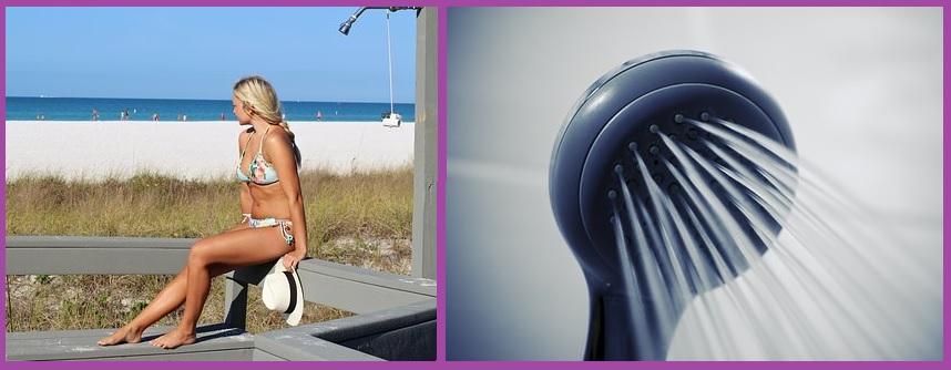 Cuidados del cabello en verano- Dúchate después de salir del agua