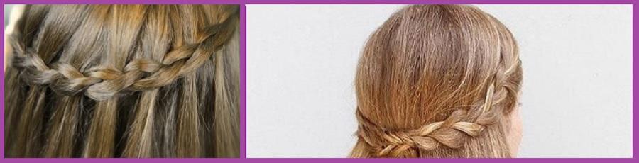 Pelo suelto con trenza- 15 peinados sencillos para la vuelta al cole