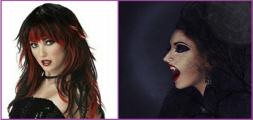 Vampiresa sexy- Peinados para Halloween