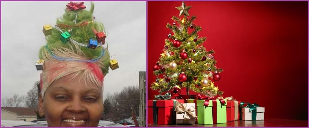 Corte de pelo árbol de Navidad- 12 cortes de pelo que no querrías ni para tu peor enemigo