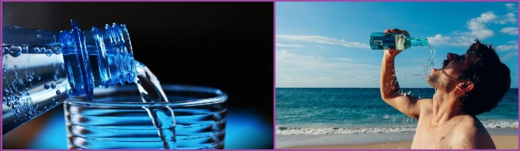 Bebe mucha agua- Cómo evitar la caída del cabello en hombres