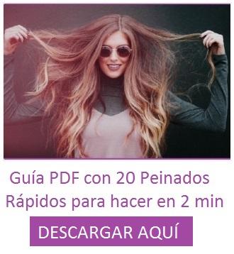 Descargable guía en PDF con Peinados rápidos peinadosde10