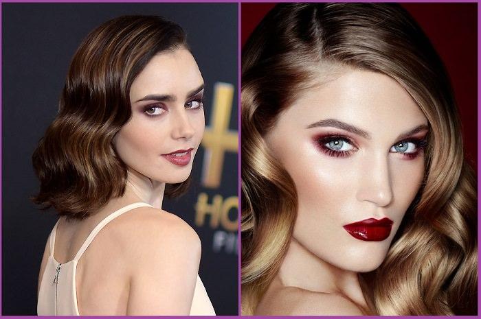maquillaje colorete marrón peinado ondas peinadosde10
