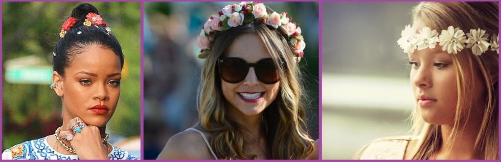 Coronas de flores- Accesorios para el pelo que van a triunfar en el 2018