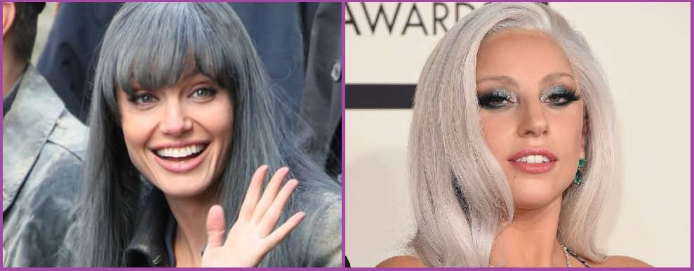 Angelina Jolie y Lady Gaga apuestan por el plata- Tendencia Granny Hair: pelo plateado