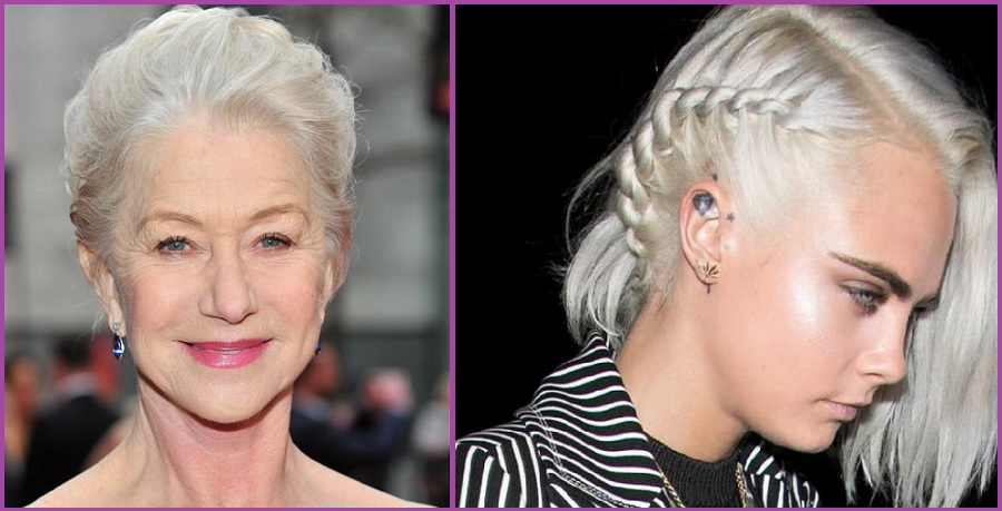 Pelo plateado tendencia para todas las edades- Tendencia Granny Hair: pelo plateado