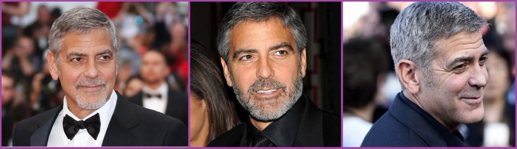 George Clooney- Peinados elegantes con canas para hombre