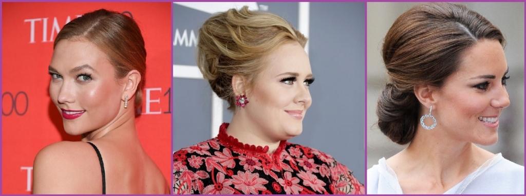 Adele y Kate Middleton recogidos recargados - Peinados que te harán parecer más mayor