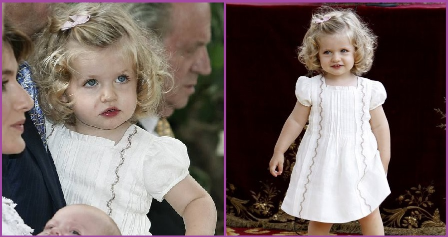 Pelo rizado y recogido- Peinados de la Princesa Leonor