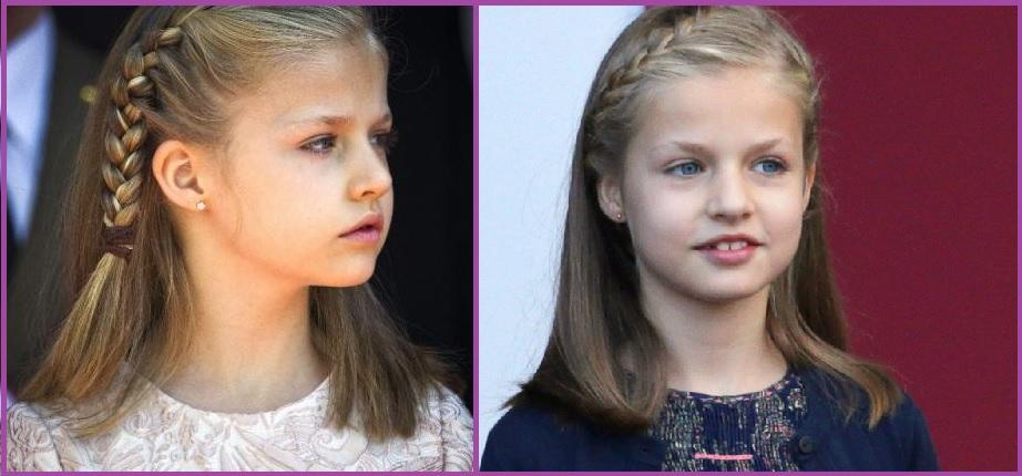 Trenza a un lado- Peinados de la Princesa Leonor