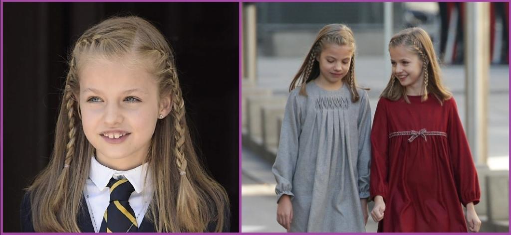 Dos trenzas a un lado- Peinados de la Princesa Leonor