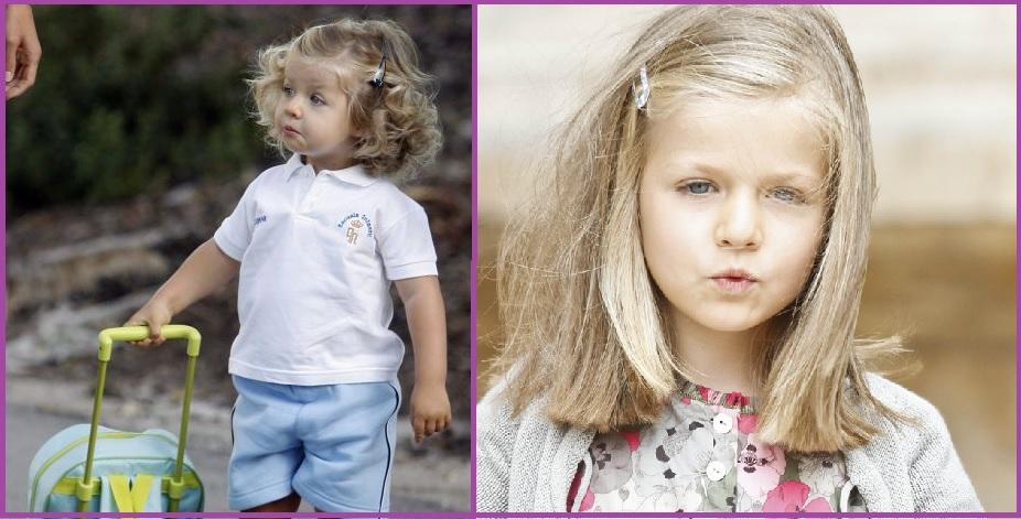 Melena suelta con horquillas- Peinados de la Infanta Leonor