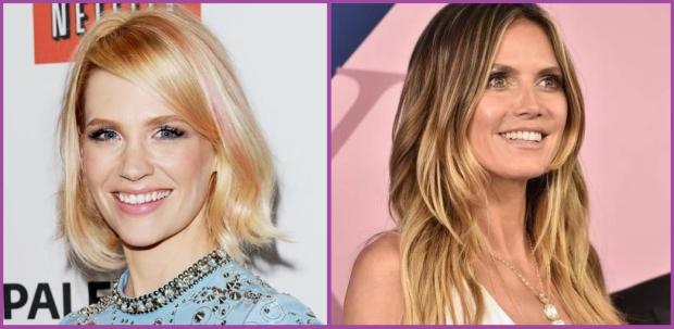 January Jones mechas rosas y Heidi Klum apuesta por las mechas babylight- Peinados de 10