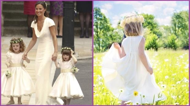 Melena suelta con corona para una boda- Peinados de evento para niñas