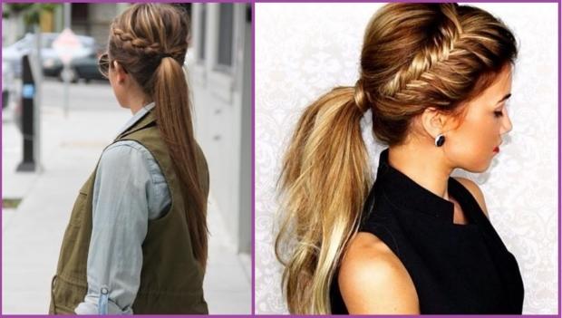 La coleta con trenza es tendencia- Peinados de evento para niñas