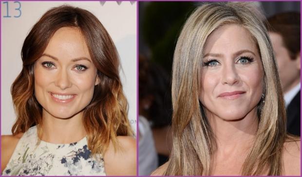 Olivia Wilde y Jennifer Aniston dos bellezas con rostro en forma de trapecio- Consejos para elegir tu flequillo
