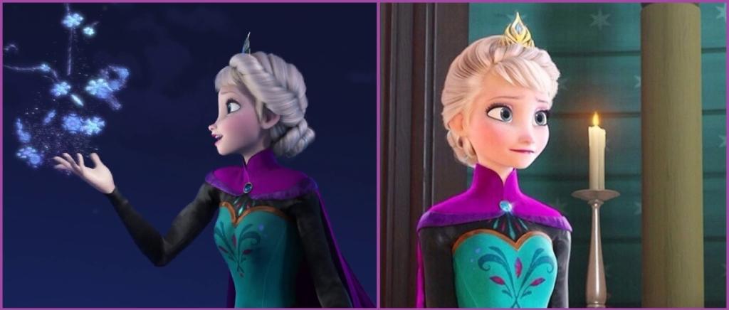 Princesa Elsa en su coronación- Peinados de evento para niñas
